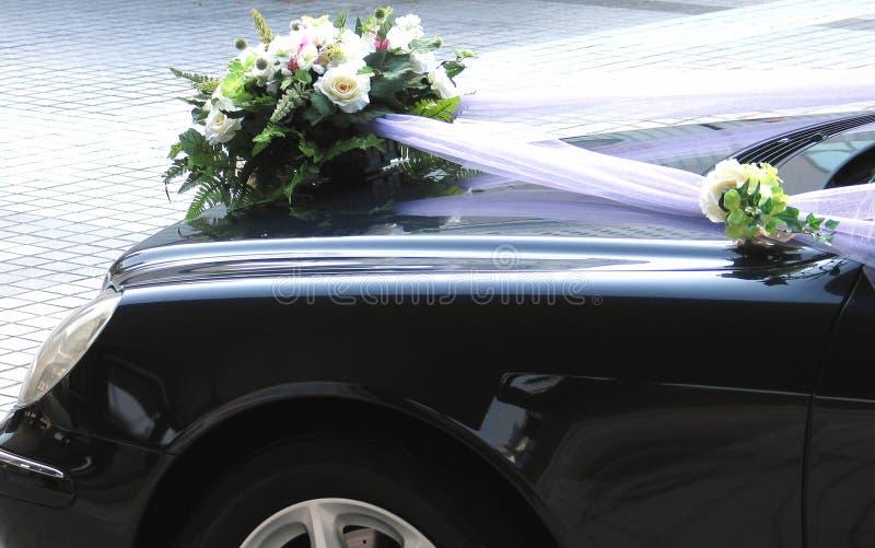Decorazione di cerimonia nuziale dell'automobile immagine stock libera da diritti