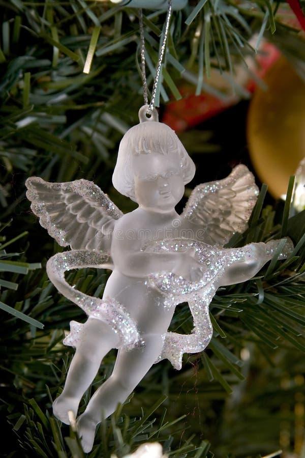 Decorazione di cristallo di natale di angelo fotografie stock