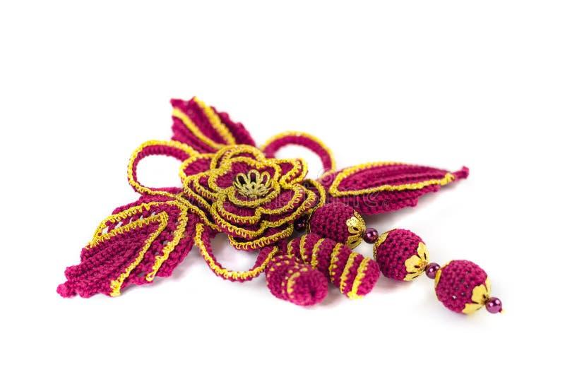 Decorazione di lana tricottata immagini stock