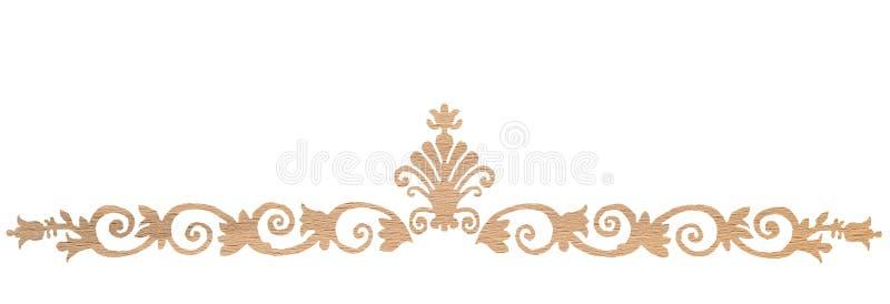 Decorazione di legno di quercia illustrazione di stock