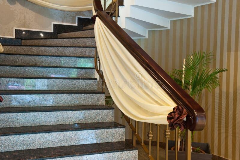Decorazione di marmo delle scale fotografie stock