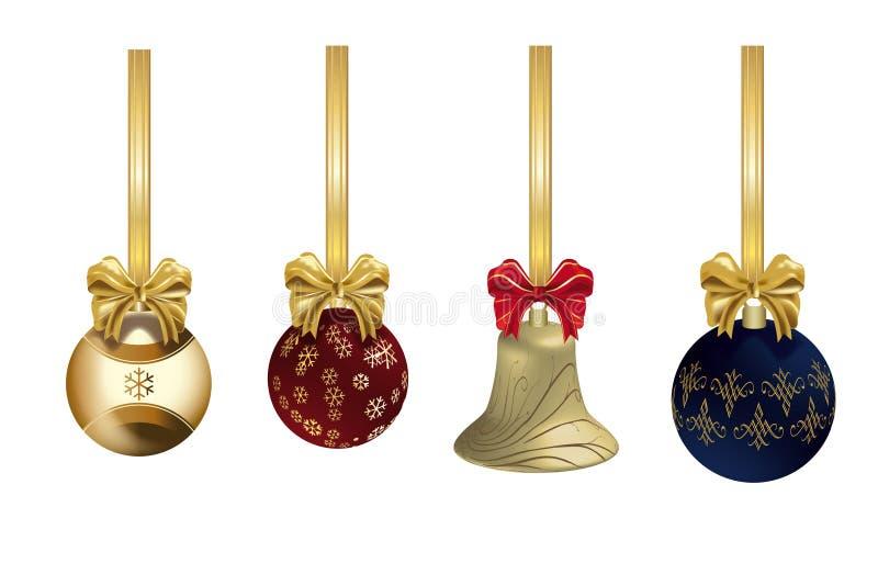 Decorazione di Natale con il nastro illustrazione di stock
