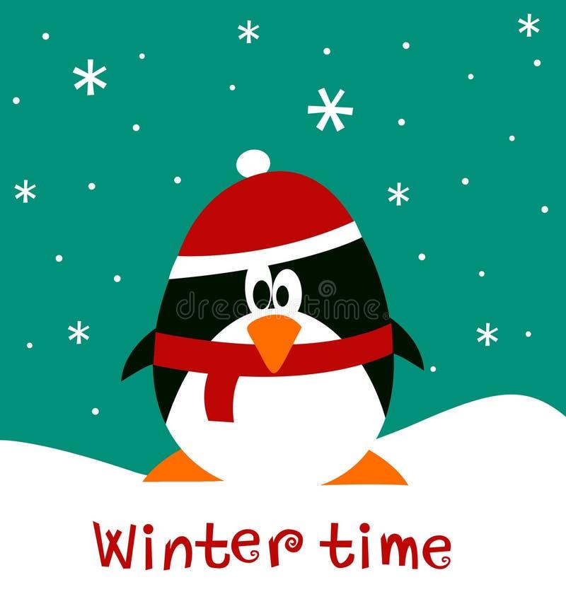 Decorazione di Natale con il pinguino illustrazione vettoriale