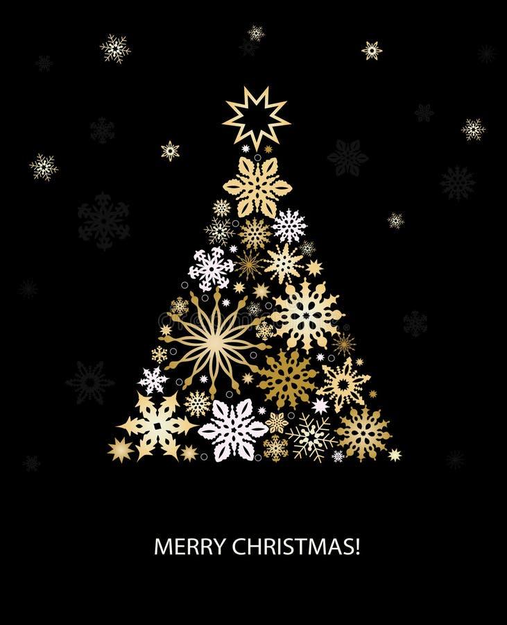 Decorazione di Natale con l'albero di abete illustrazione di stock