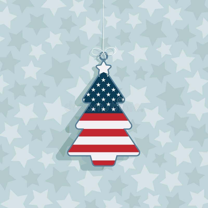 Decorazione Di Natale Degli S.U.A. Immagini Stock