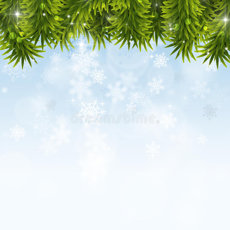 Decorazione di Natale di inverno illustrazione vettoriale