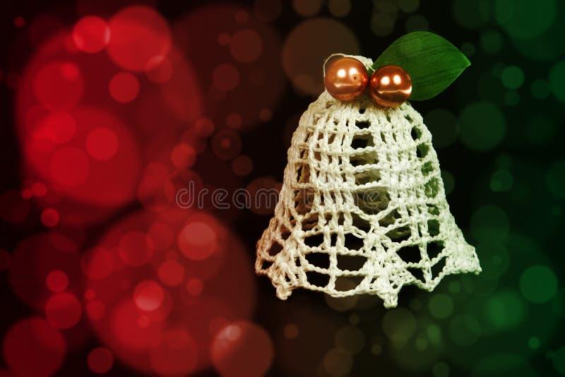 Decorazione di Natale di Tinkerbell sui precedenti astratti di colore immagine stock libera da diritti