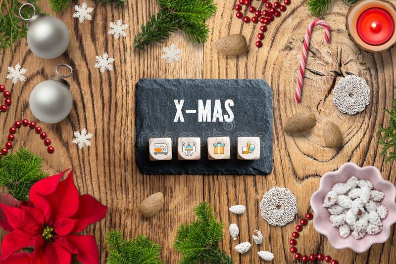 """Decorazione di Natale ed il messaggio """"natale """" immagini stock"""