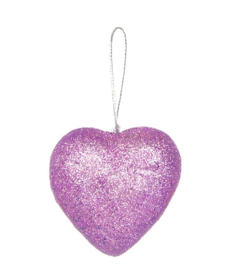 Decorazione di Natale, Purple Heart al valor militare isolata su bianco fotografie stock