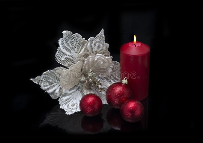 Decorazione di Natale su fondo nero fotografia stock