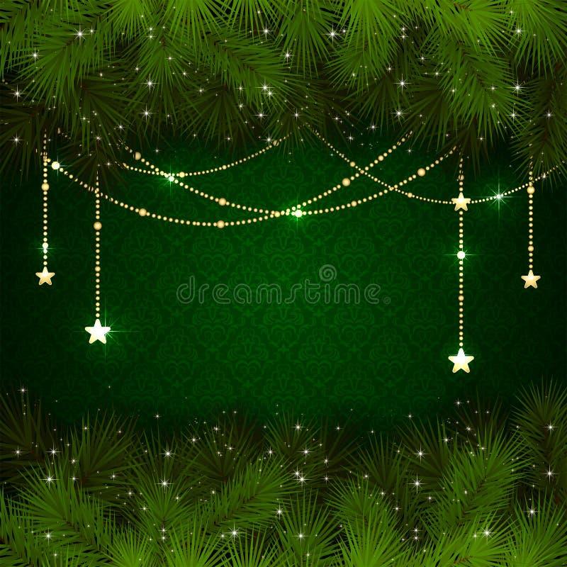 Decorazione di Natale su fondo verde royalty illustrazione gratis