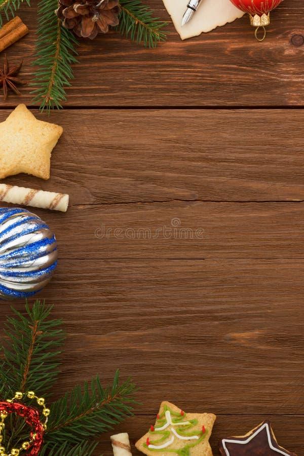 Decorazione di Natale su legno fotografie stock libere da diritti