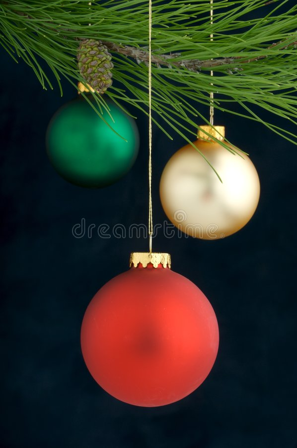 Decorazione di natale su un albero immagini stock libere da diritti