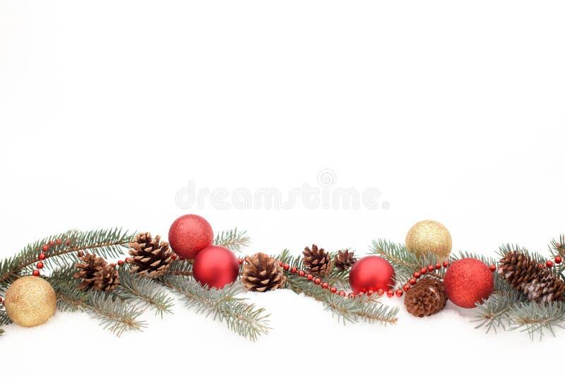 Decorazione di Natale su una neve immagini stock libere da diritti