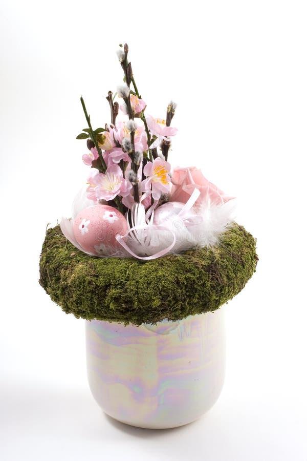 Decorazione di Pasqua nel colore rosa fotografia stock