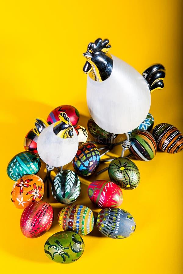 Decorazione di Pasqua - uova dipinte immagine stock libera da diritti
