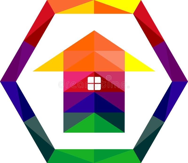 Decorazione di riserva della casa di logo variopinta immagine stock