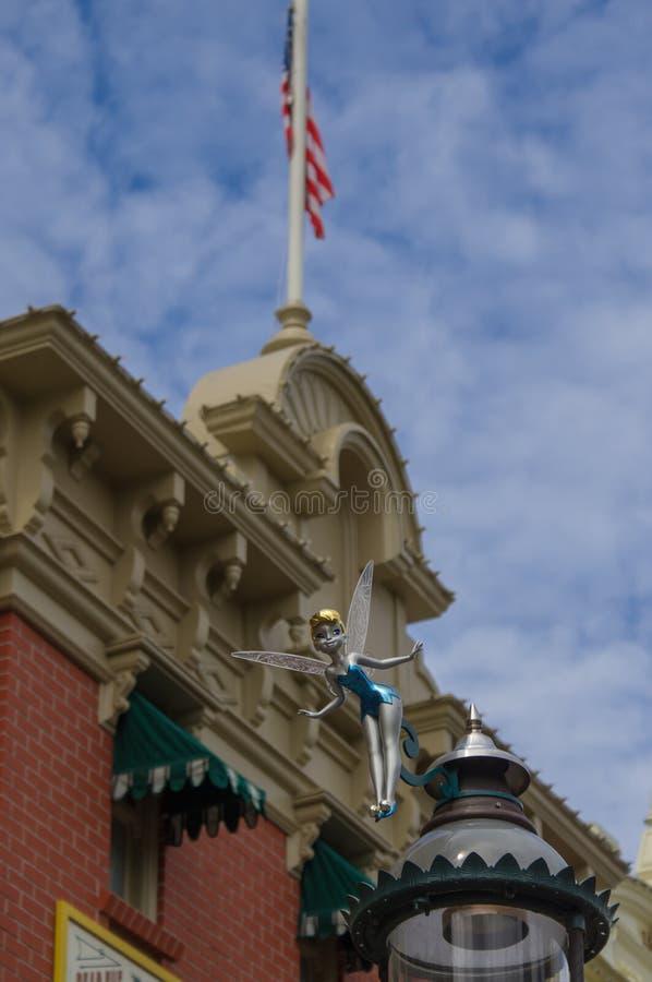Decorazione di Tinkerbell in Disneyland fotografia stock libera da diritti