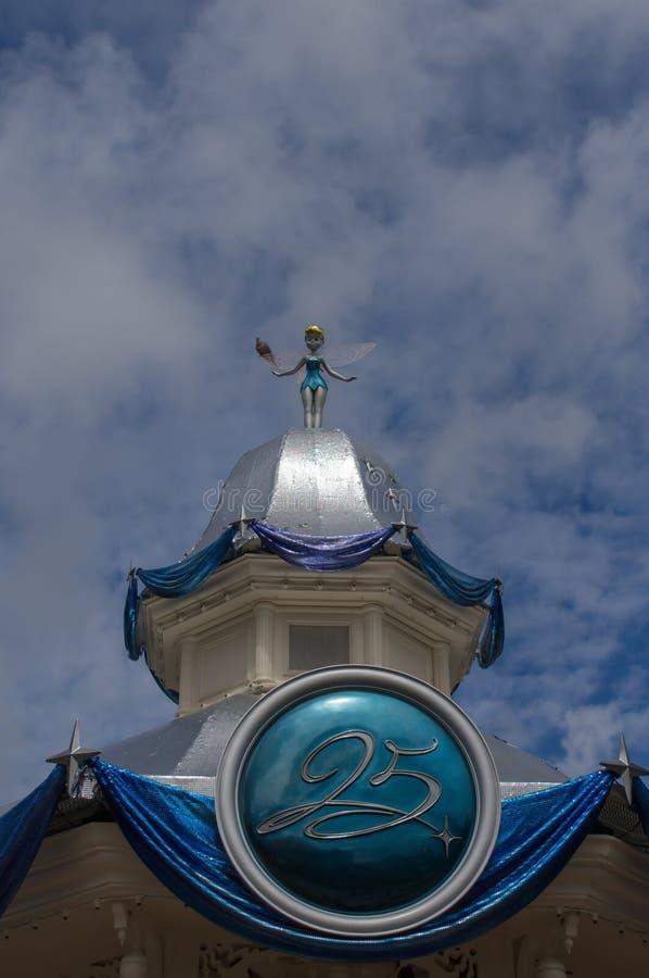 Decorazione di Tinkerbell in Disneyland fotografia stock