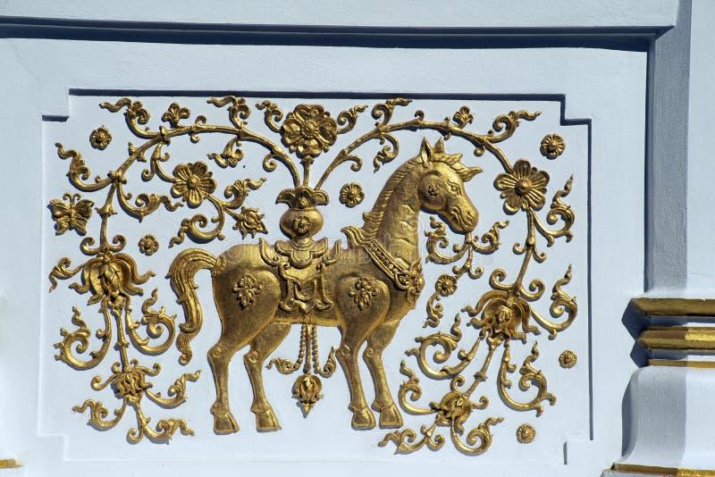 Decorazione esteriore su Wat Klang Wieng, Chiang Rai Thailand immagini stock