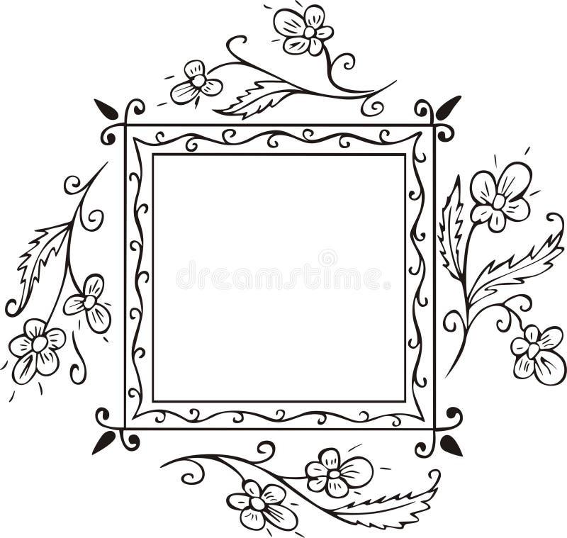 Decorazione floreale del blocco per grafici illustrazione di stock