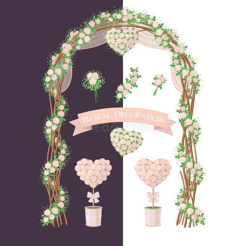 Decorazione floreale nello stile rustico illustrazione for Decorazione floreale
