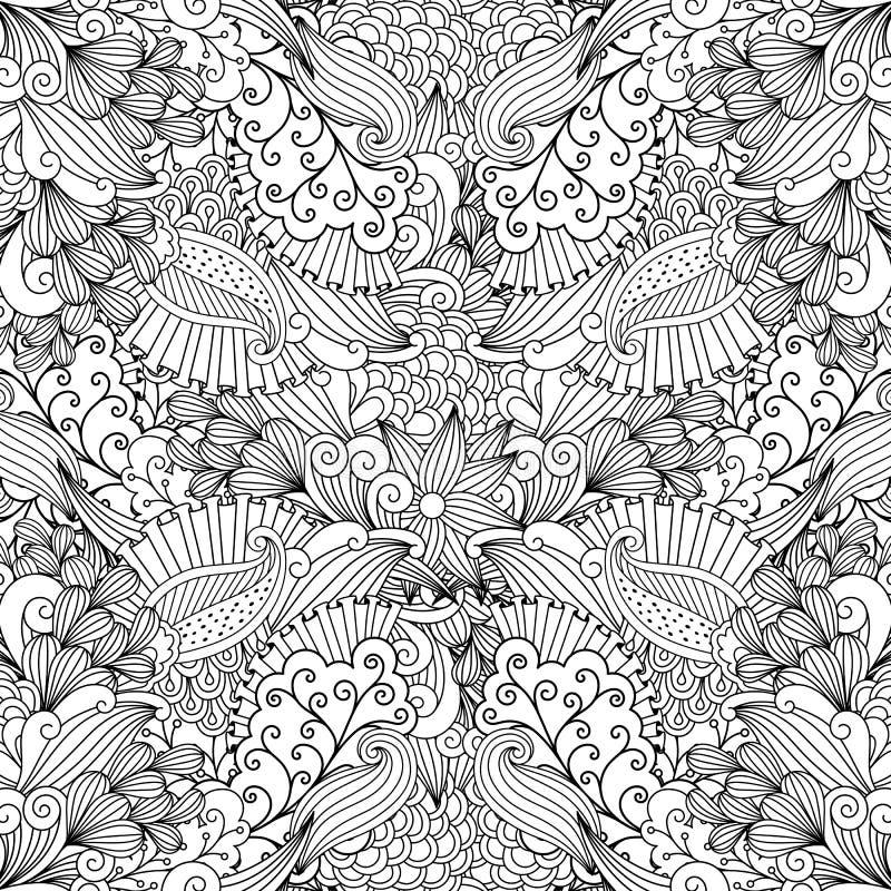 Decorazione incorniciata piena contro fondo bianco illustrazione vettoriale