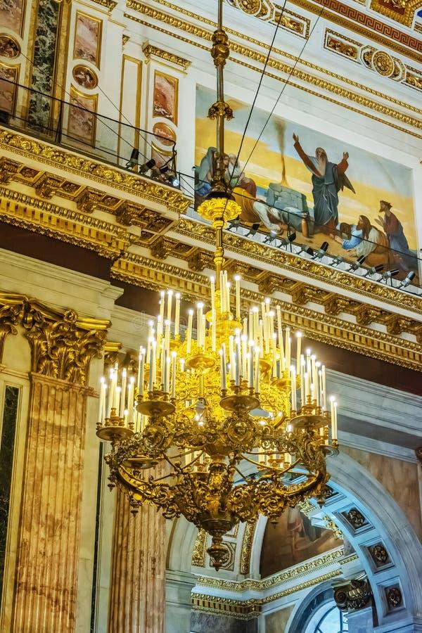 Decorazione interna della cattedrale della st Isaac, St Petersburg, Russia immagini stock libere da diritti