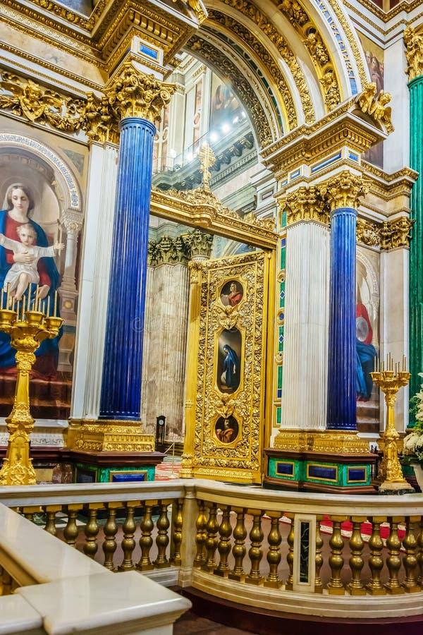 Decorazione interna della cattedrale della st Isaac, St Petersburg, Russia fotografia stock libera da diritti