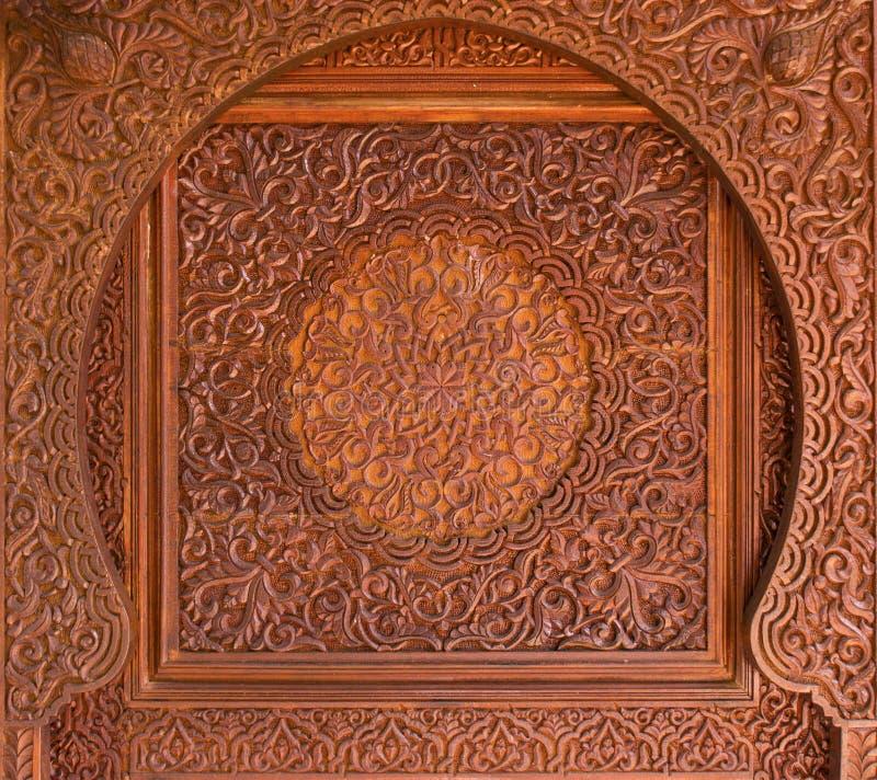 Decorazione islamica di legno complicata immagine stock libera da diritti