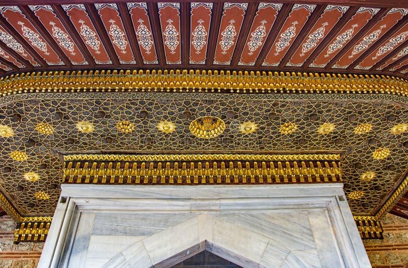 Decorazione islamica storica, motivo fotografia stock libera da diritti