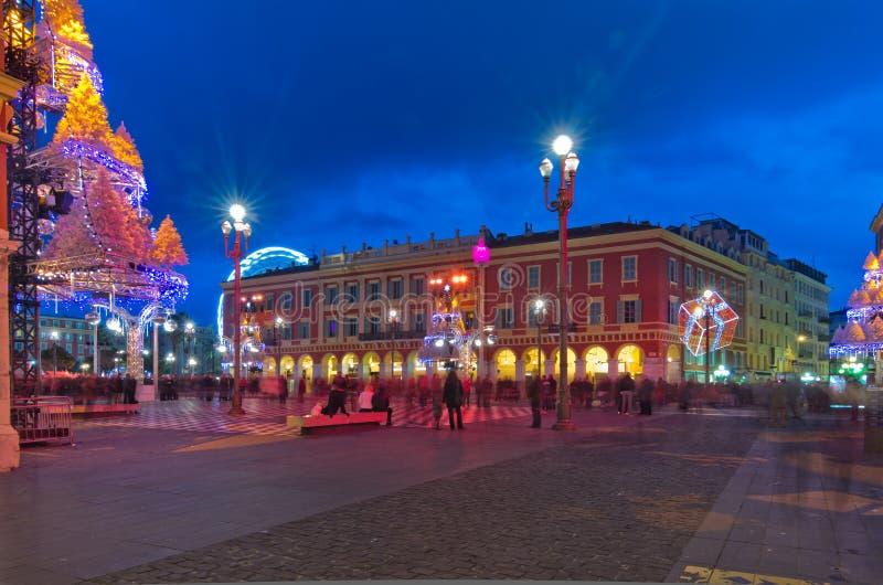 Decorazione in Nizza, Francia di Natale fotografie stock libere da diritti