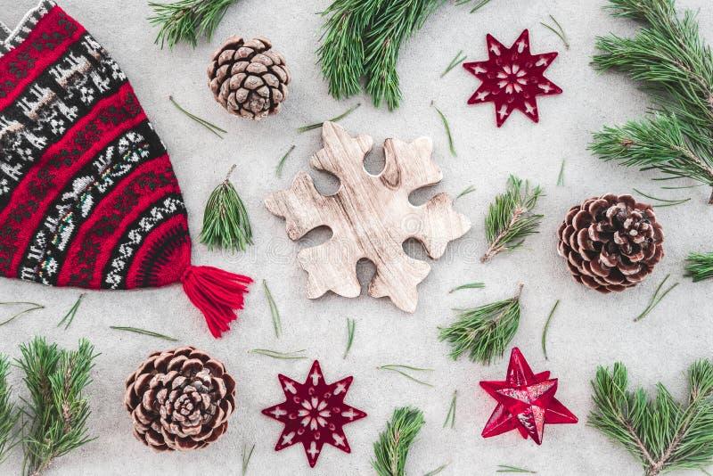 Decorazione nordica di Natale di stile fotografie stock