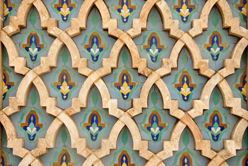 Decorazione orientale del mosaico fotografie stock