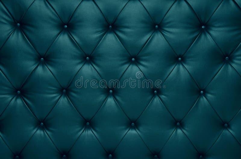 Decorazione a quadretti del cuoio della vettura di capitone blu illustrazione di stock
