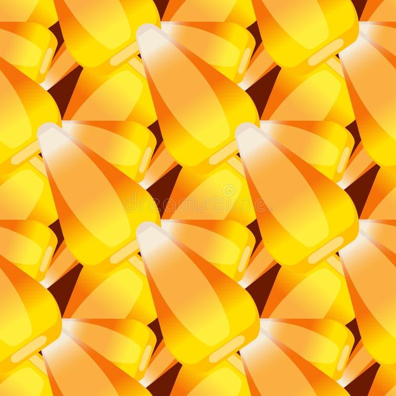 Decorazione spettrale di autunno del modello del cereale di caramella di Halloween di vettore del fondo di festa di orrore del fu illustrazione vettoriale