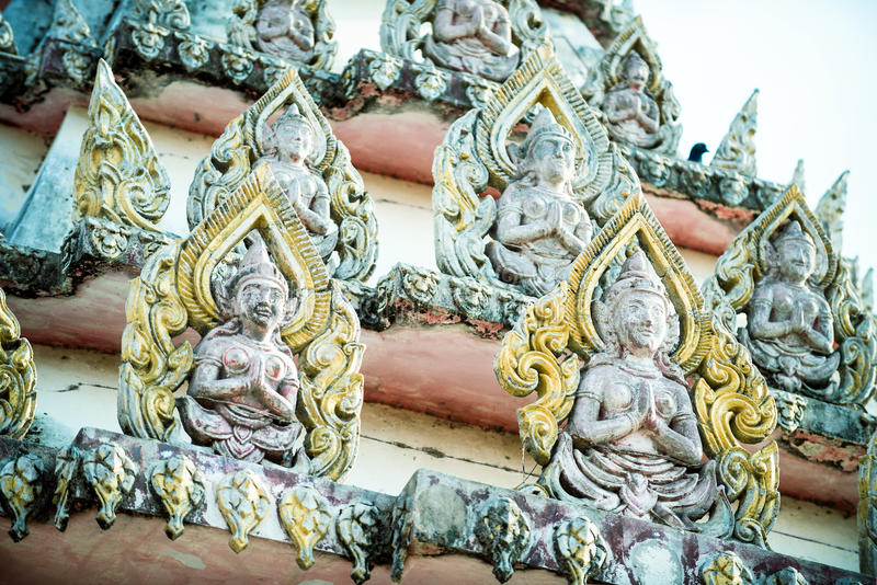 Decorazione tailandese in tempio immagine stock libera da diritti
