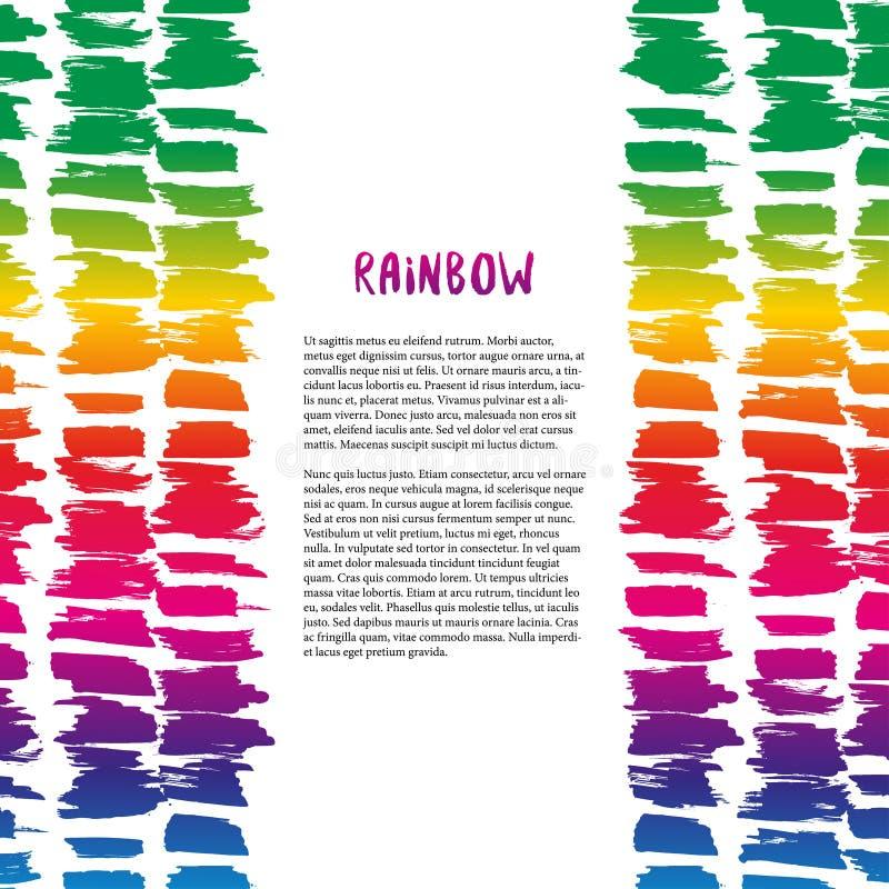 Decorazione variopinta di struttura dell'arcobaleno Vector il modello per l'aletta di filatoio, l'insegna, il manifesto, l'opusco royalty illustrazione gratis