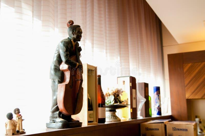Decorazioni ad Antivari intorno a Yokohama, Giappone Molte cose sono usate come esposizioni per intrattenere i clienti Nell'ora l fotografie stock libere da diritti
