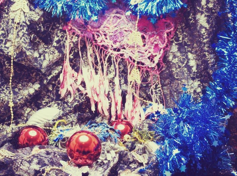 Decorazioni anno di nuovo e di natale fotografie stock