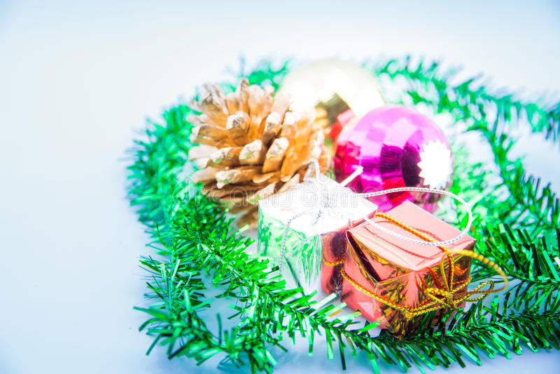 Decorazioni anno di nuovo e di natale immagine stock