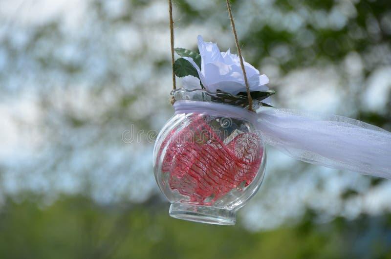 Decorazioni astute di nozze del fiore della primavera immagine stock