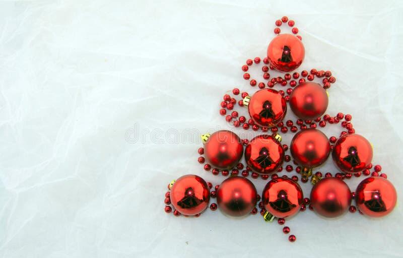 Decorazioni, bianco e rosso di Natale fotografia stock