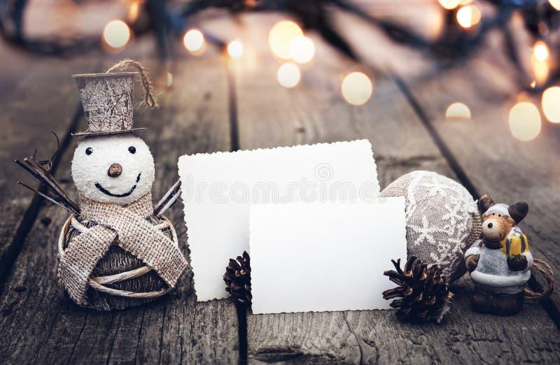 Decorazioni d'annata di Natale fotografia stock libera da diritti