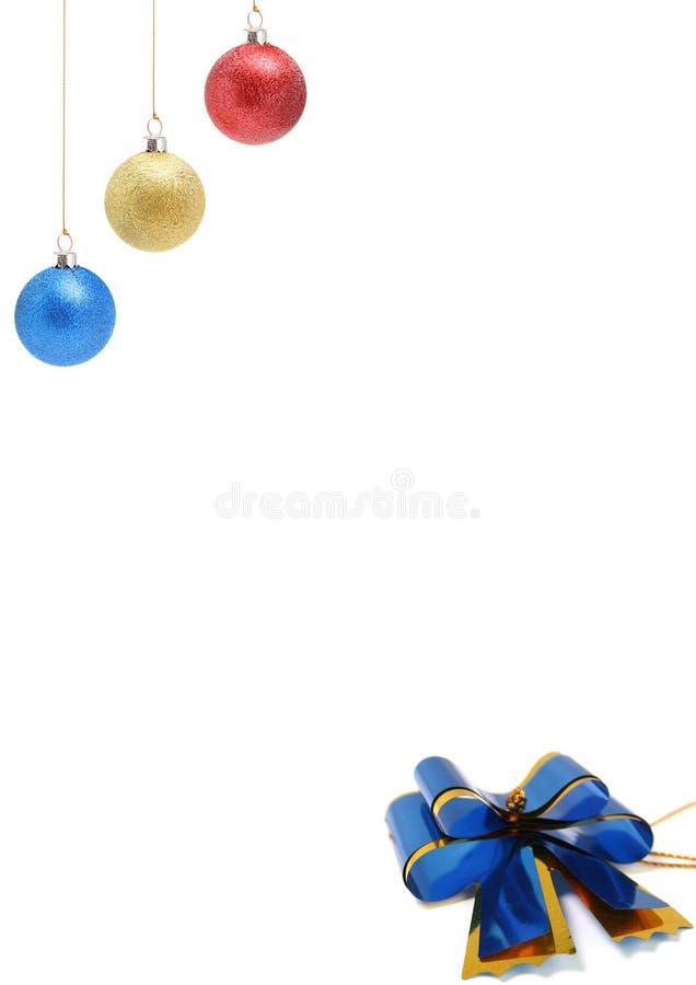 Decorazioni del nuovo anno di colore giallo e blu rosso 1 fotografie stock libere da diritti