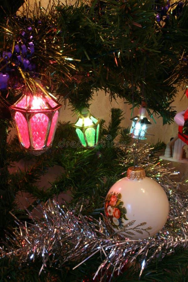 Decorazioni dell'albero di Natale immagini stock libere da diritti