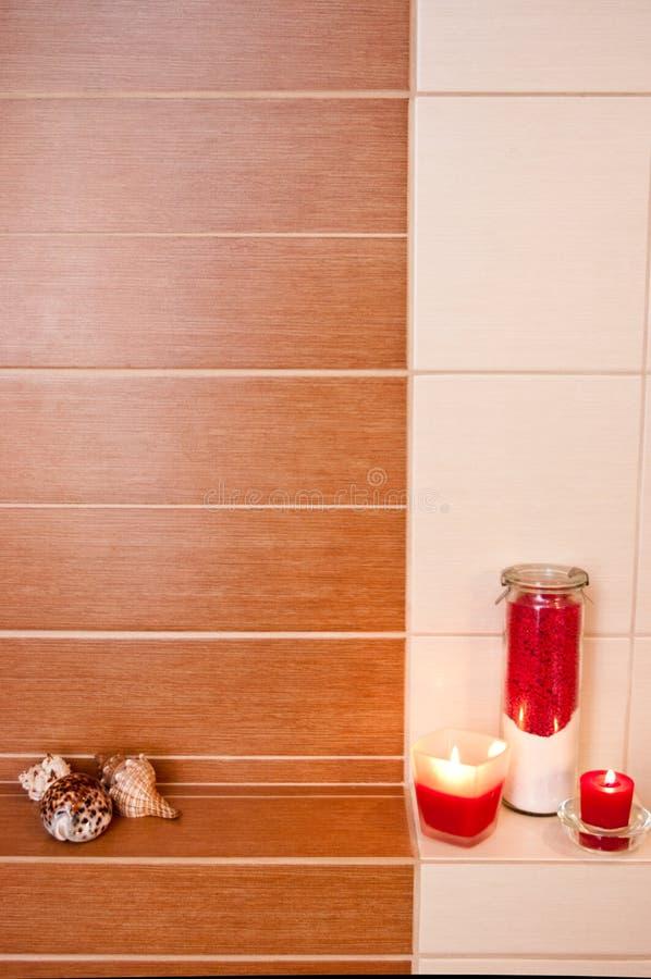 Decorazioni della stanza da bagno fotografia stock - Candele da bagno ...