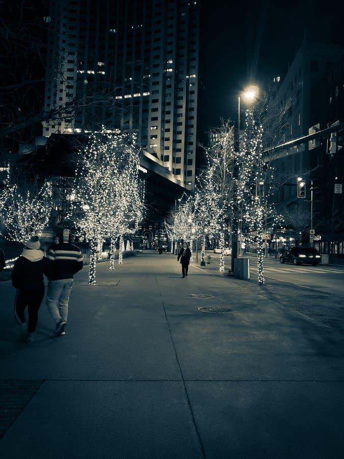 Decorazioni delle luci di Natale immagine stock libera da diritti