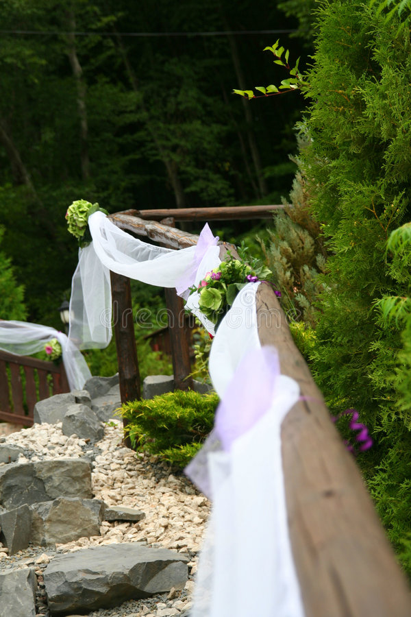Decorazioni di cerimonia nuziale immagine stock libera da diritti