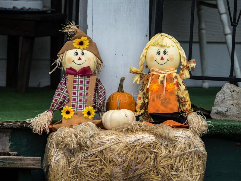 Decorazioni di Halloween di caduta fotografie stock